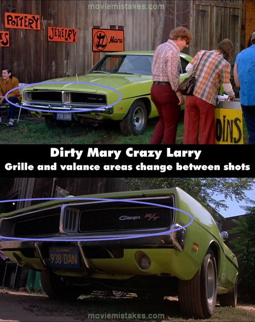 Dirty Mary Crazy Larry (1974) movie mistake picture (ID 101266)