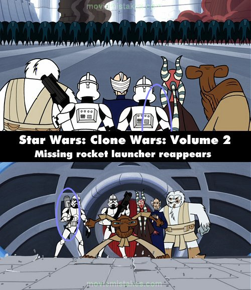 Star Wars: Clone Wars mistake picture