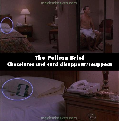 The Pelican Brief movie mistake picture 2