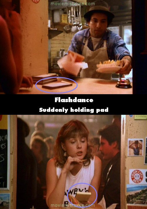 Flashdance mistake picture