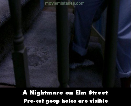 A Nightmare on Elm Street mistake picture