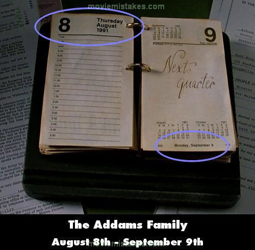The Addams Family mistake picture