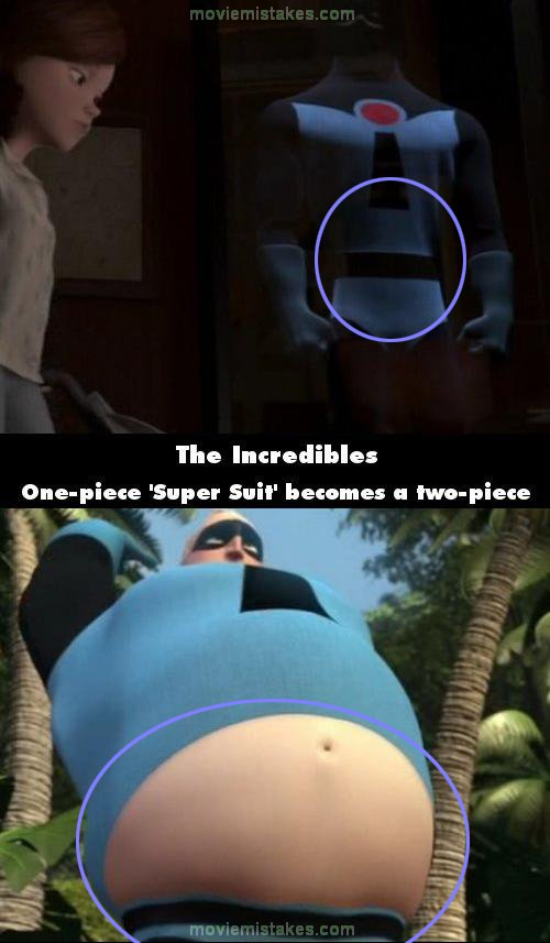 The Incredibles mistake picture