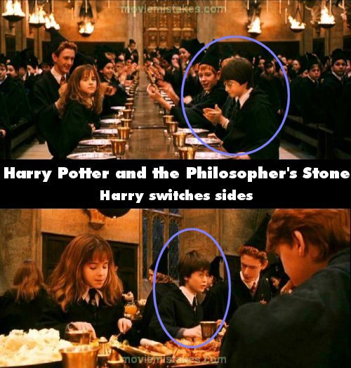 Harry Potter Book Error : Best movie mistakes with pictures page