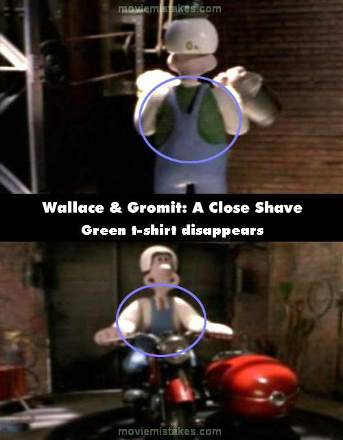 Wallace & Gromit: A Close Shave mistake picture