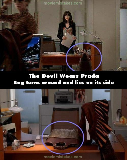 The Devil Wears Prada 2006 Movie Mistake Picture Id 117535