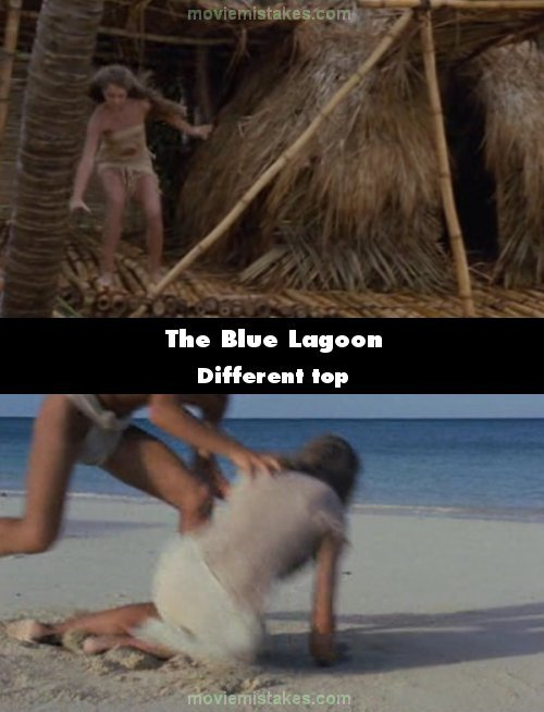 The Blue Lagoon mistake picture