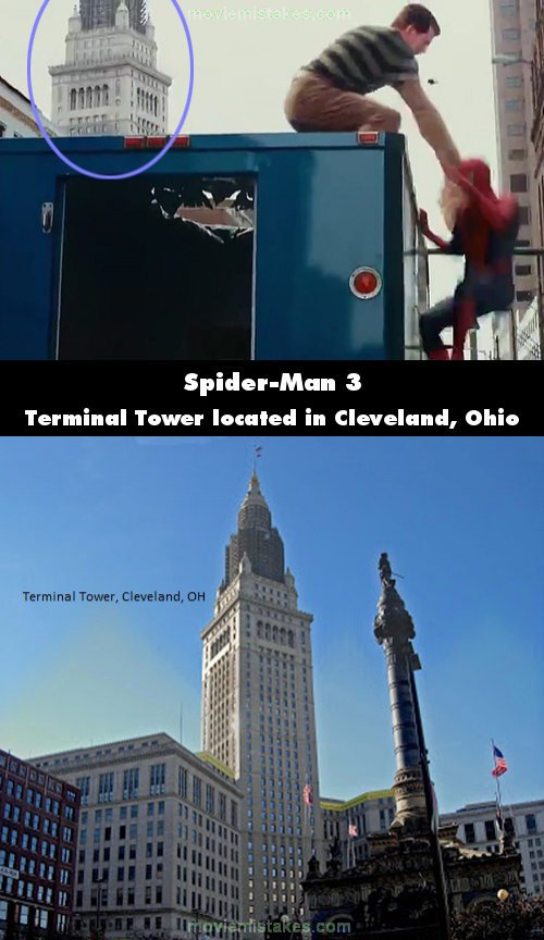 Spider-Man 3 mistake picture