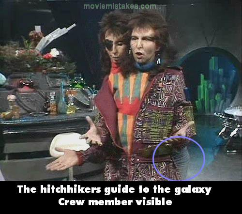 The Hitchhiker's Guide to the Galaxy mistake picture
