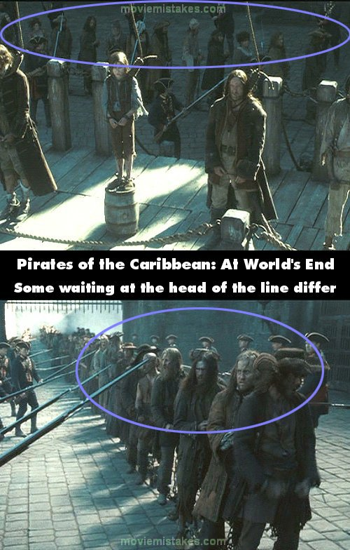 Pirates of the Caribbean: At World's End mistake picture