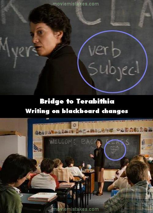 Bridge to Terabithia mistake picture