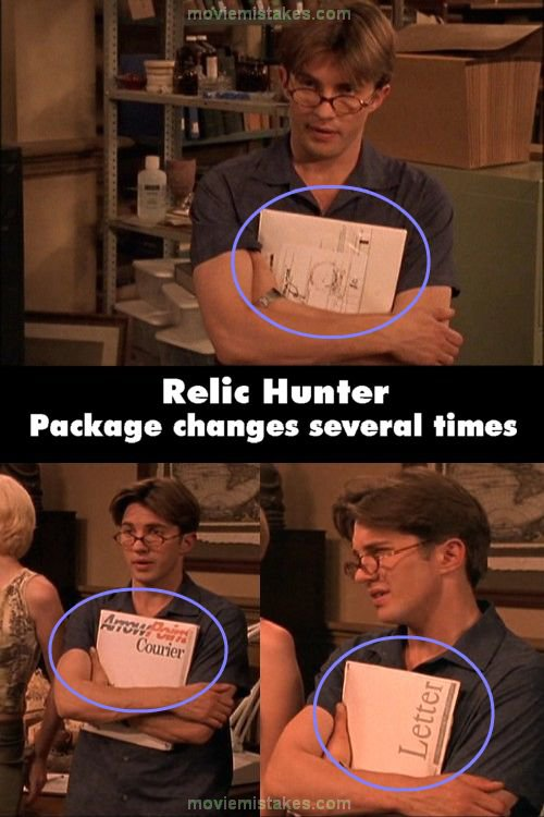 Relic Hunter mistake picture