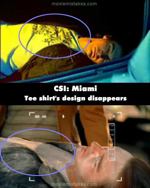 CSI: Miami mistake picture