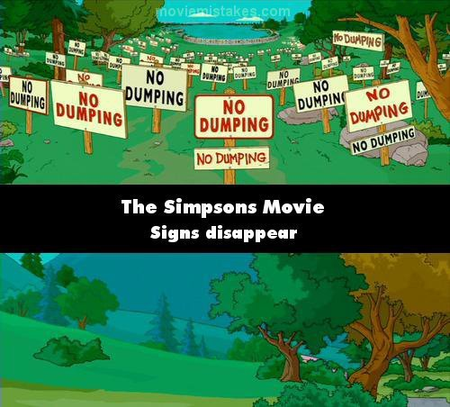 The Simpsons Movie 2007 Movie Mistake Picture Id 128646