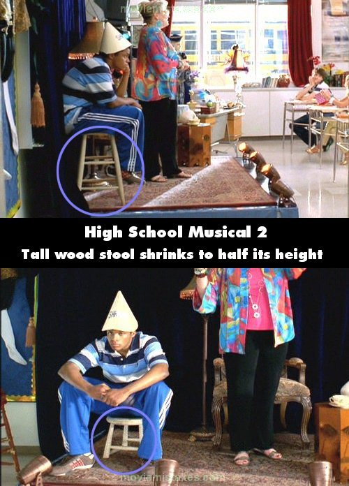 High School Musical 2 mistake picture
