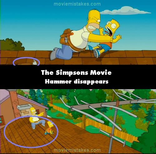 The Simpsons Movie 2007 Movie Mistake Picture Id 130767