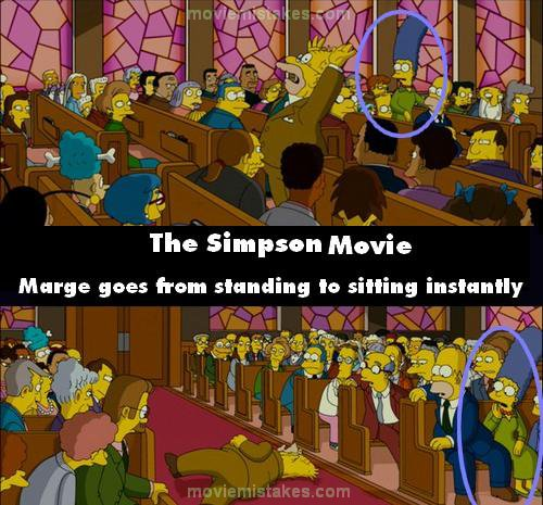 The Simpsons Movie 2007 Movie Mistake Picture Id 131851