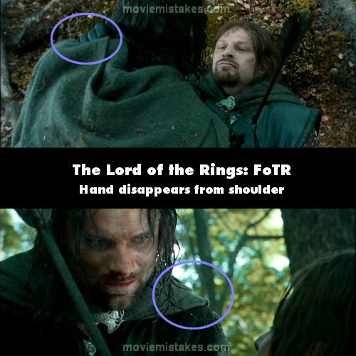 Continuity Mistakes In Lord Of The Rings