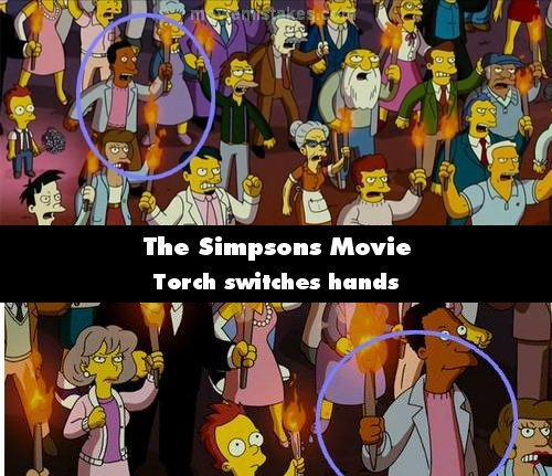 The Simpsons Movie 2007 Movie Mistake Picture Id 134527