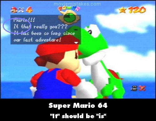 Super Mario 64 mistake picture