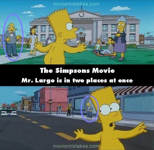 The Simpsons Movie 2007 Movie Mistake Picture Id 135518