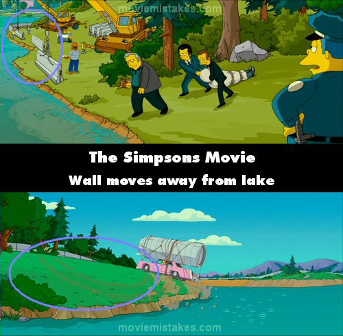 The Simpsons Movie 2007 Movie Mistake Picture Id 136028