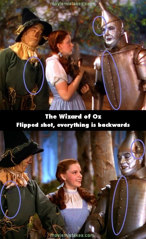 The Wizard of Oz mistake picture
