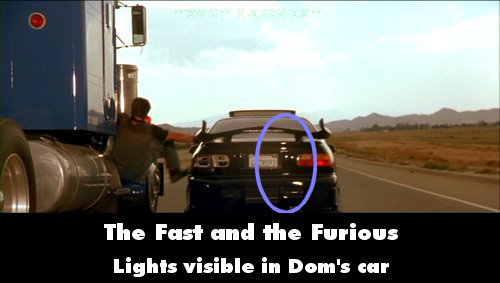 Best Quotable Lines From The Fast And The Furious Movie: The Fast And The Furious (2001) Movie Mistake Picture (ID