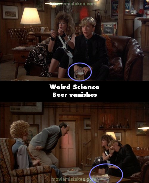 Weird Science mistake picture