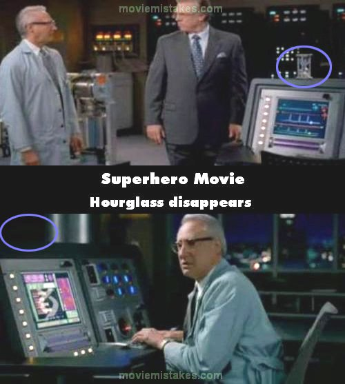 Superhero Movie mistake picture