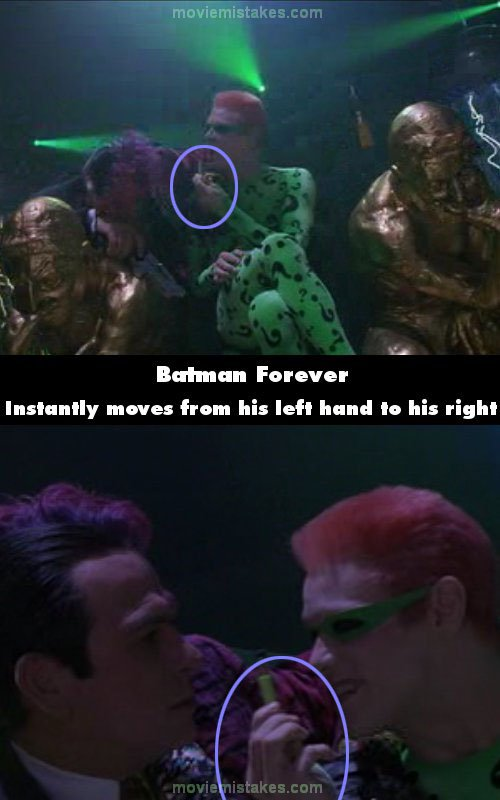 Batman Forever mistake picture