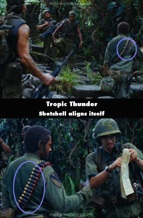 Tropic Thunder mistake picture