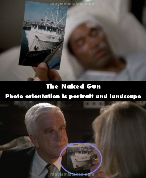 The Naked Gun mistake picture