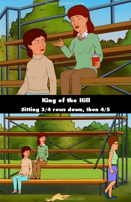 King of the Hill mistake picture