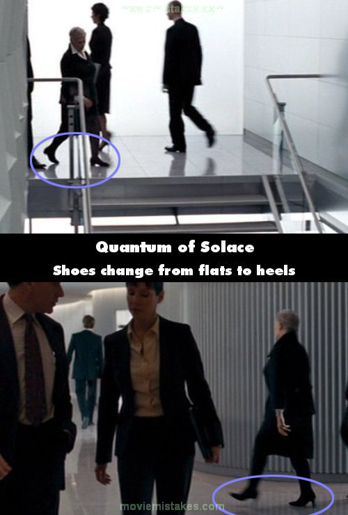 Quantum of Solace mistake picture