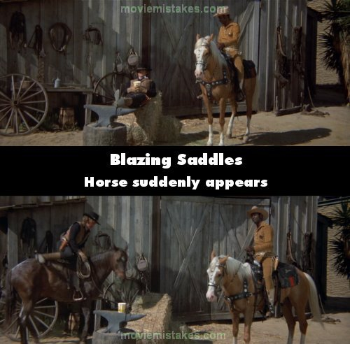 Blazing Saddles mistake picture