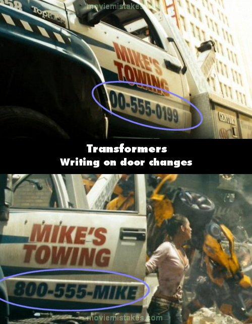 15 Gambar Kesalahan Dalam Film Transformers