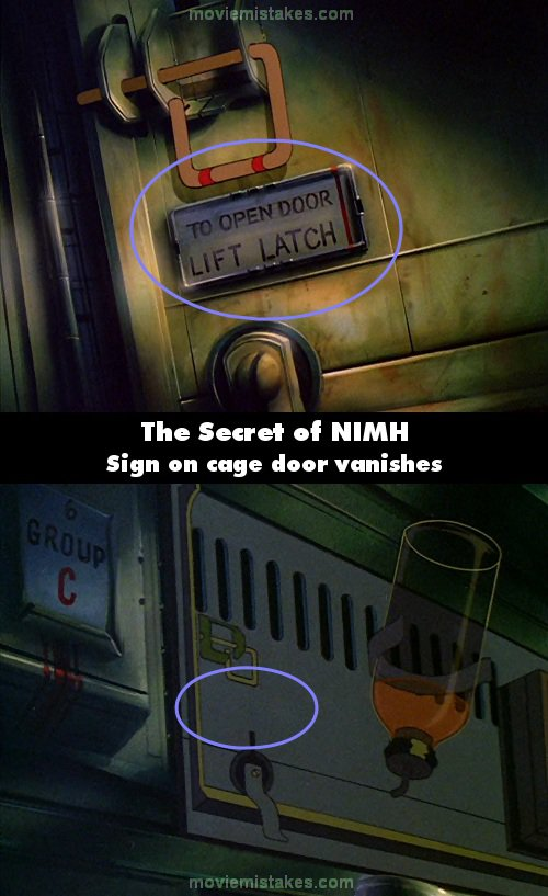 The Secret of NIMH mistake picture