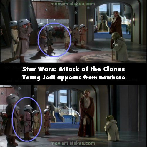 Star Wars: Episode II - Attack of the Clones mistake picture