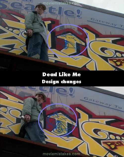Dead Like Me mistake picture