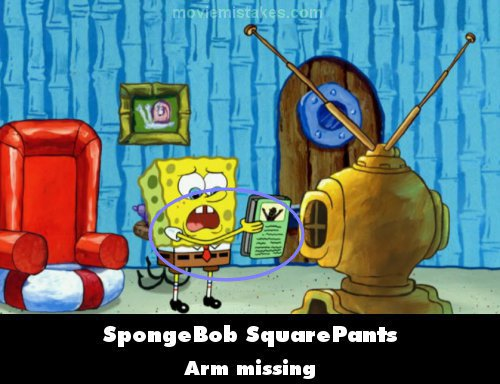 SpongeBob SquarePants mistake picture