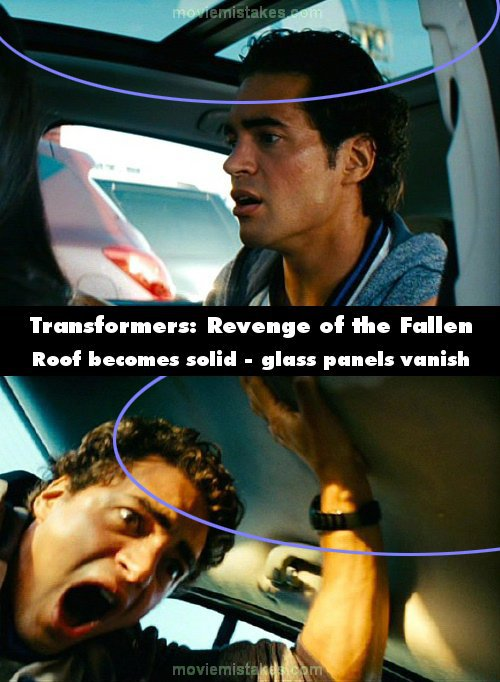 Transformers: Revenge of the Fallen mistake picture