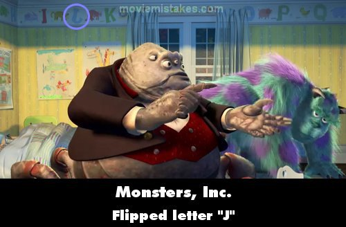 Monsters, Inc. mistake picture
