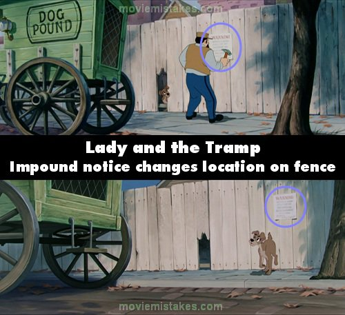 Lady and the Tramp mistake picture
