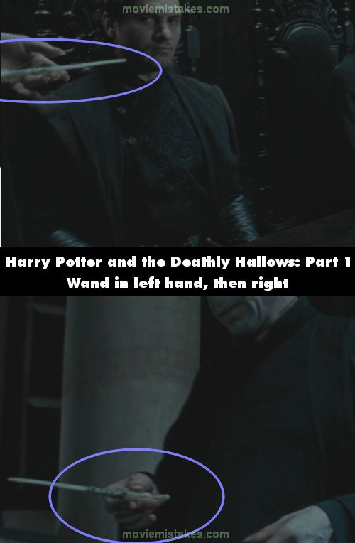 Best fantasy movie mistake pictures of all time for Harry potter and the deathly hallows wand