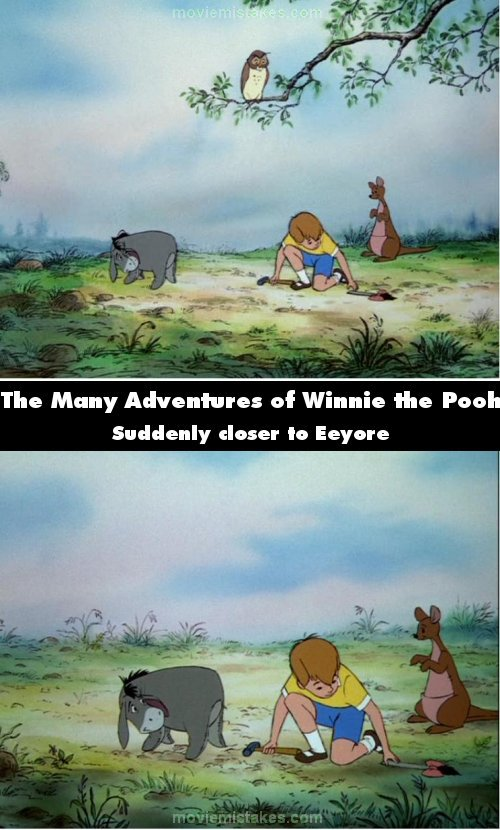 The Many Adventures of Winnie the Pooh mistake picture