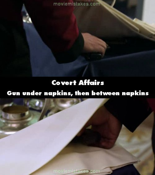 Covert Affairs mistake picture