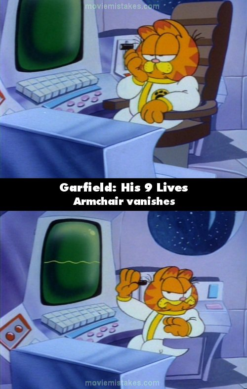 Garfield: His 9 Lives mistake picture