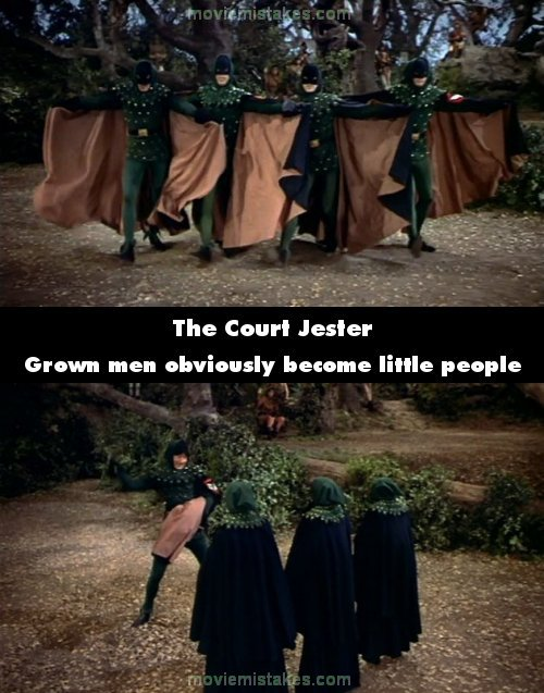 The Court Jester mistake picture
