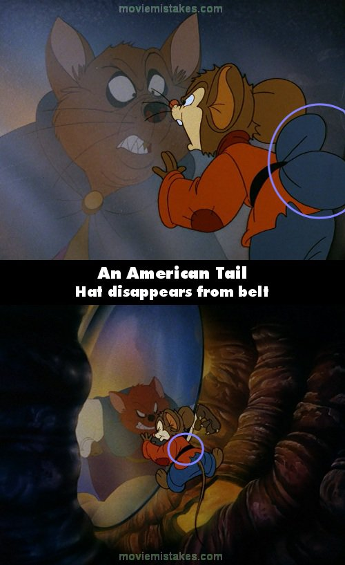 An American Tail movie mistake picture 1